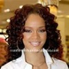 Curly full lace wig for black women