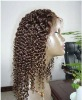 "Custom made-Deep curl indian hair lace wig,16"",#4,CW-9049"