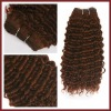 Deep Wave Brown Human Hair Weft