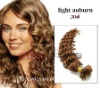 Deep blond u tip hair extension