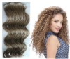Deep wave 8 Pieces clips in remy human hair extensions/weave