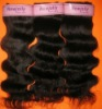 Deep wave human remy hair weft on hot sale