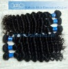 Deep wave virgin Brazilian natural hair weave