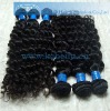 Deep wave virgin Brazilian natural hair weaving