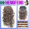 Deep weave mixed color synthetic ponytail extension pieces