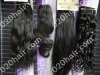 Different texture of brazilian hair in stock