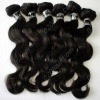 Double strong weft and single drawn virgin indian hair