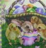 Easter chicken printed dinner Napkins