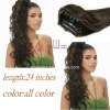 Easy to use claw human hair ponytails