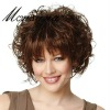 Elegant short brown curl human hair wigs for women