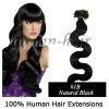 European top quality natural black remy nail tip human hair extnesion