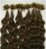 Factory wholesale Brizilian Virgin Italian Keratin U-Tip Pre-bonded Hair Extension Medium Brown