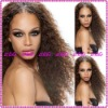 Fashion Curl 100%Indian remy human hair full lace wigs