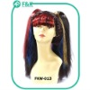 Fashion Full Cap Cosplay straight Pigtailed Wig