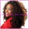 Fashion Kinky-curl 100%Indian remy human hair full lace wigs
