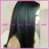 Fashion Kinky-straight 100%Indian remy human hair full lace wigs