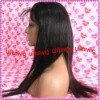 Fashion Silk-straight 100%Indian remy human hair full lace wigs