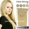 Fashion clip on human hair extensions