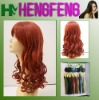 Fashion curly hair wigs-red color wigs-full lace wig