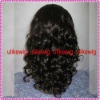 Fashion deep curl 100%Indian remy human hair full lace wigs