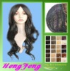 Fashion long black women wig silk top full lace wig