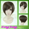 Fashion short stright daily silk top full lace wig