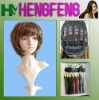 Fashion short wigs brown stright wave wigs hair synthetic