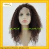 Fashion virgin indian remy hair afro curl full lace African American Wigs for black woman