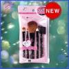 Fashionable black makeup brush set
