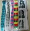 Fashionable synthetic hair clip-in hair extension with new design