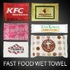 Fast Food Restaurants Wet Towel