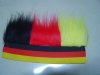 Football Fans wig in Germany flag color