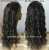 """Free Shipping Human Hair Lace Front Wigs 18"""" Deep Wave #1 Jet Black Indian Remy Hair Lace Wigs"""