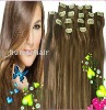 Full Head 20inch Straight Indian Remy Hair Clip-in Hair Extension
