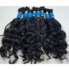 Full cuticle pure virgin natural hair weft /bulk ,easy to dye
