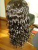 Full lace wig human hair Color 1B.16inch