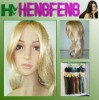 Golden synthetic full lace wigs long hair wigs