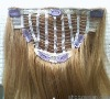Grade AAA 100% remy clip in human hair extensions 100% remy hair