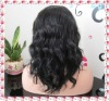 Grade AAA+ fashion curly remy human hair lace front wig accept paypal