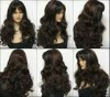 Grade AAA full lace wig human hair stock popular wig long natural black wave curl hair wigs