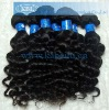 High quality Deep wave remy human hair weft