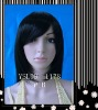 High quality fashion straight black synthetic lace wig YSL09-1178 #1B