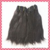 High quality natural color hair extension machine made wefts