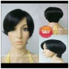 High quality short straight synthetic lace front wig