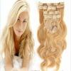 Hot sale 7pcs/set european clip in hair extension