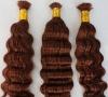 Hot sales deep wave bulks Brazilian hair