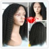 Hot sell kinky curl indian hair lace wig