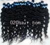 Hot sell natural color wavy peruvian hair piece