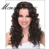 Hot selling black and long deep wave human hair full lace wig for ladies