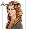 Hot selling long and brown super wave human hair full lace wig for ladies